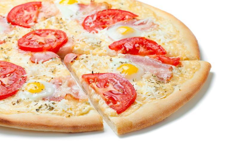 Соблазнительная доставщица пиццы